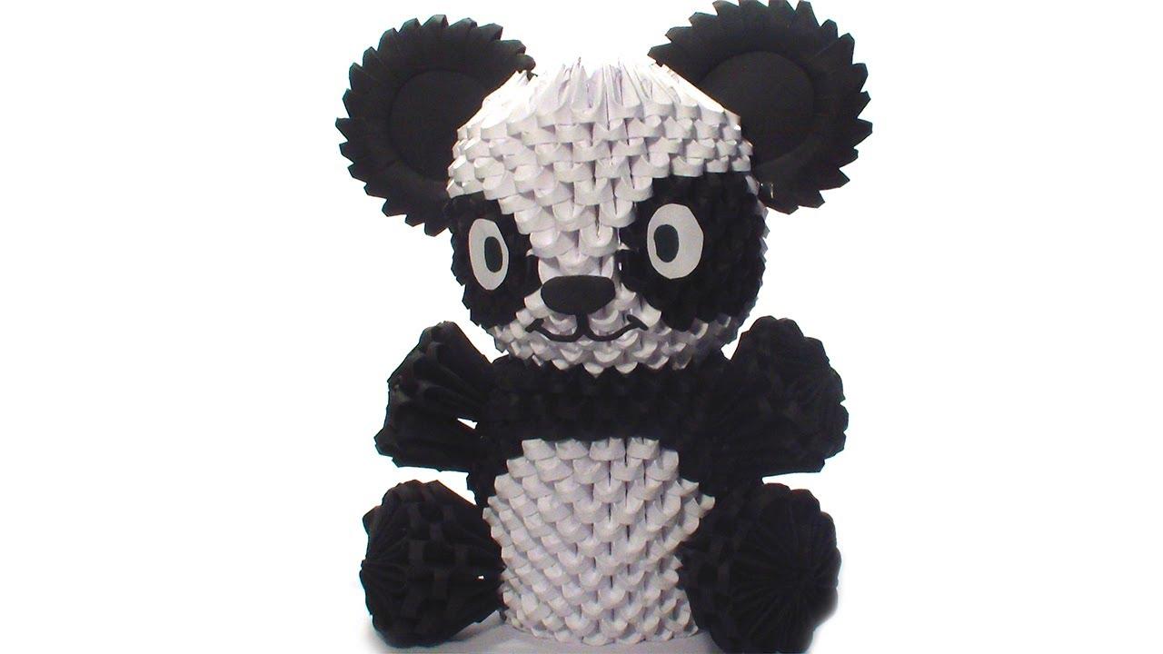 tutorial origami 3d panda
