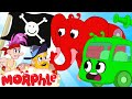 Morphle & Orphle's Water Balloon Fight with The Pirates | Cartoons For Kids | Sandaroo Kids Channel