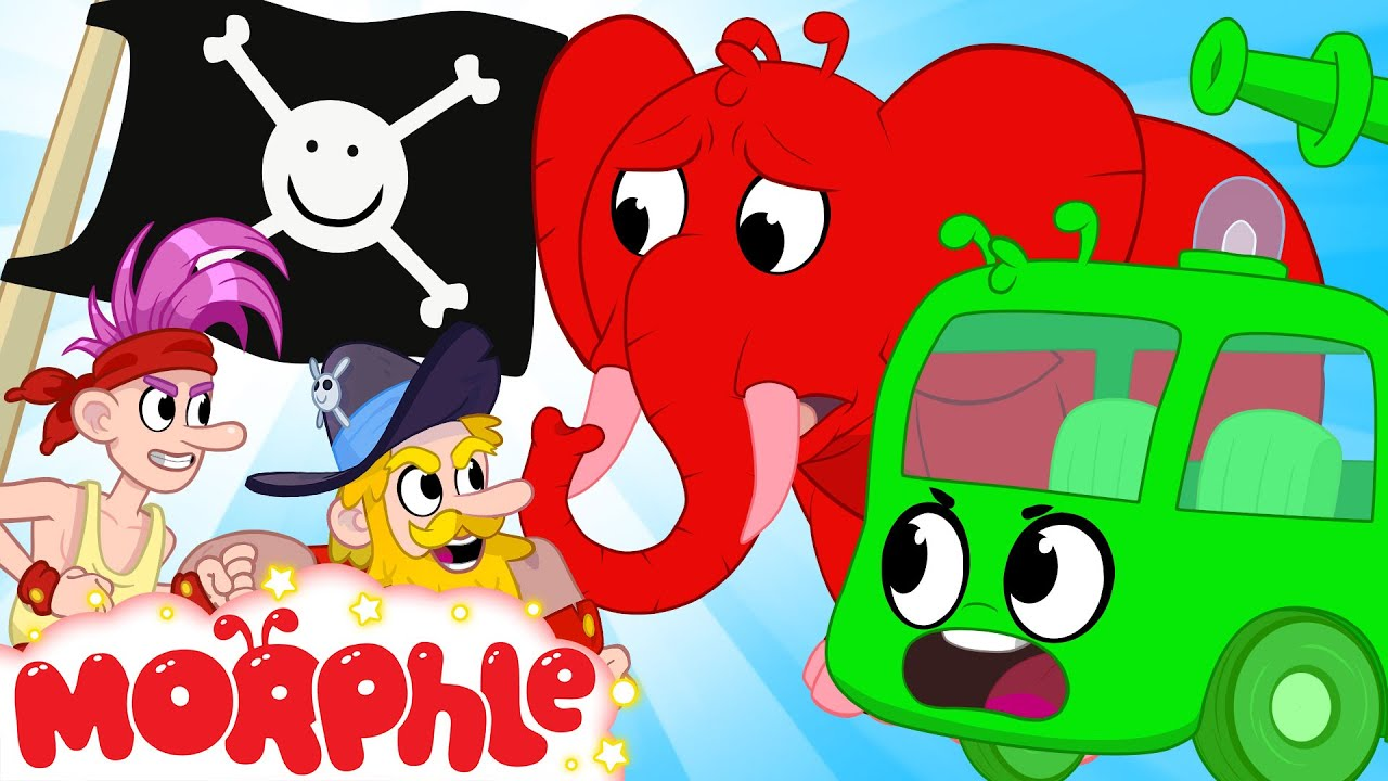 Morphle & Orphle's Water Balloon Fight with The Pirates   Cartoons For Kids   Sandaroo Kids Channel