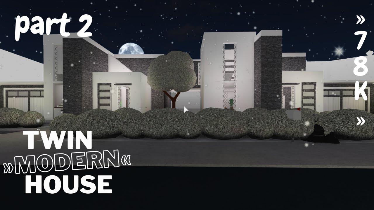 Download Bloxburg: Twin Modern House part 2