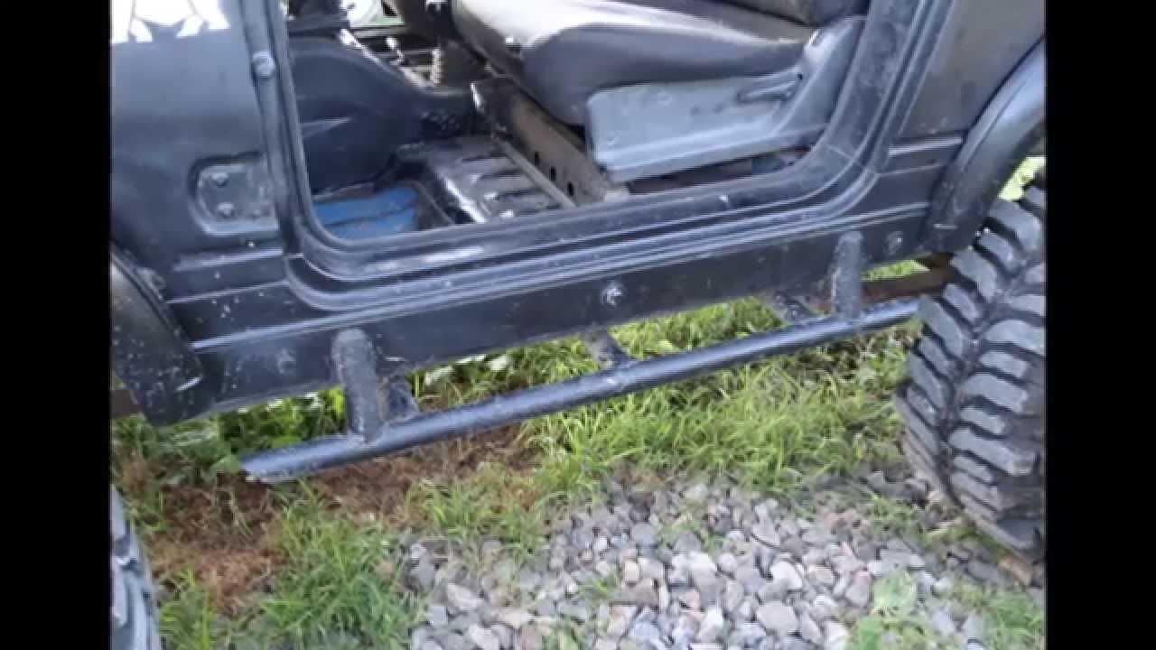 Fabricated Jeep Sliders