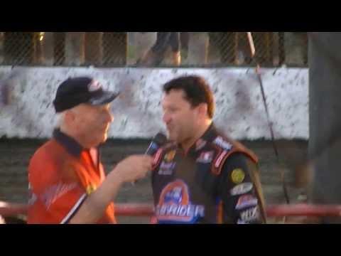 Tony Stewart, Kenny Wallace & Ken Schrader Interview @ Macon Speedway