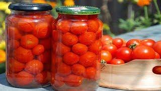 Маринованные помидоры черри в банках. Домашний рецепт