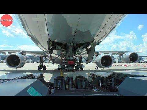 Pushing Back An A340-600 in Munich | World