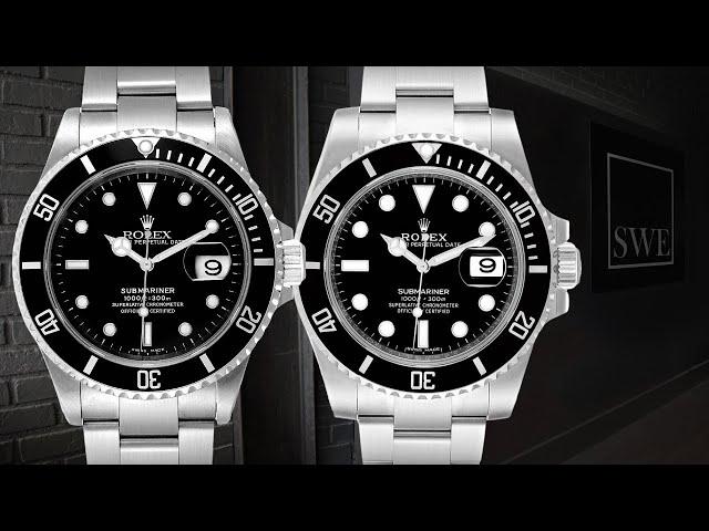 Rolex Submariner Date 40 Ceramic 116610 vs Steel Bezel 16610 Comparison | SwissWatchExpo