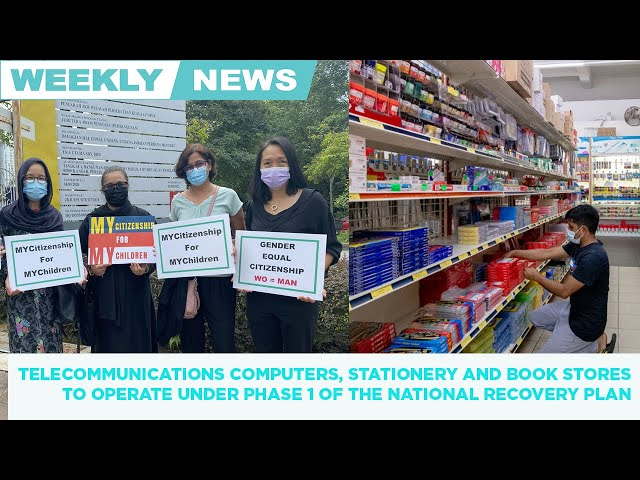 Weekly news round up. Computer, stationery, book shops can open under National Recovery Plan Phase 1