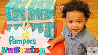 Toddler Unboxing Surprise From Pampers Easy Ups!
