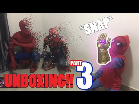 Spiderman Bros Unboxing THANOS INFINITY GAUNTLET gone wrong!!!