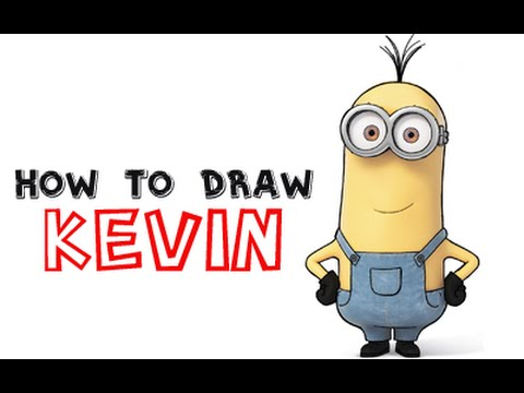 How To Draw Kevin The Minion From Minions And Despicable Me