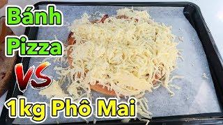 Lâm Vlog - Thử Nướng Bánh Pizza Ngập 1kg Phô Mai Kéo Sợi | Pizza vs 1kg Phô Mai Mozzarella Cheese
