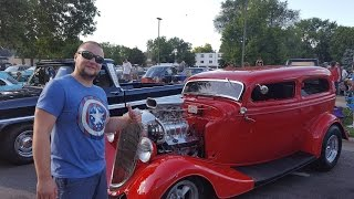 Ретро-авто в Америке. Old classic cars(В городке Анока проходил слет владельцев ретро-автомобилей. Настоящей американской классики! Глаз не оторв..., 2016-08-11T00:16:03.000Z)