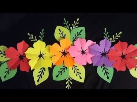 ☆ HOW TO MAKE PAPER FLOWERS | PAPER FLOWER DECORATION IDEAS | HANDMADE FLOWERS CRAFT