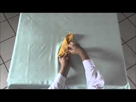 Banana Napkin Fold Youtube