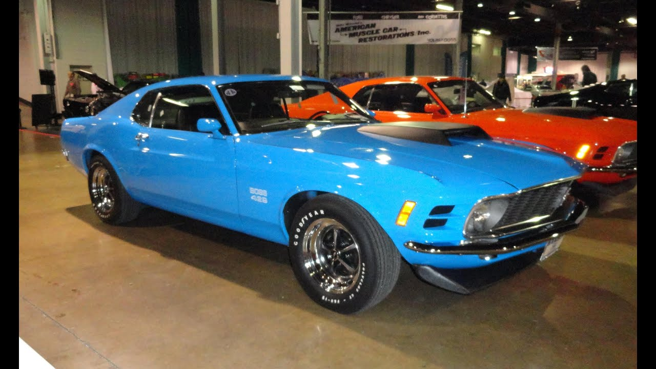 1970 ford mustang boss 429 with grabber blue paint my car story with lou costabile