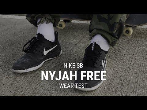 50c5445b6de6 Nike SB SB Nyjah Free Skate Shoes - atmosphere grey/pale ivory-true berry -  Free Shipping | Tactics
