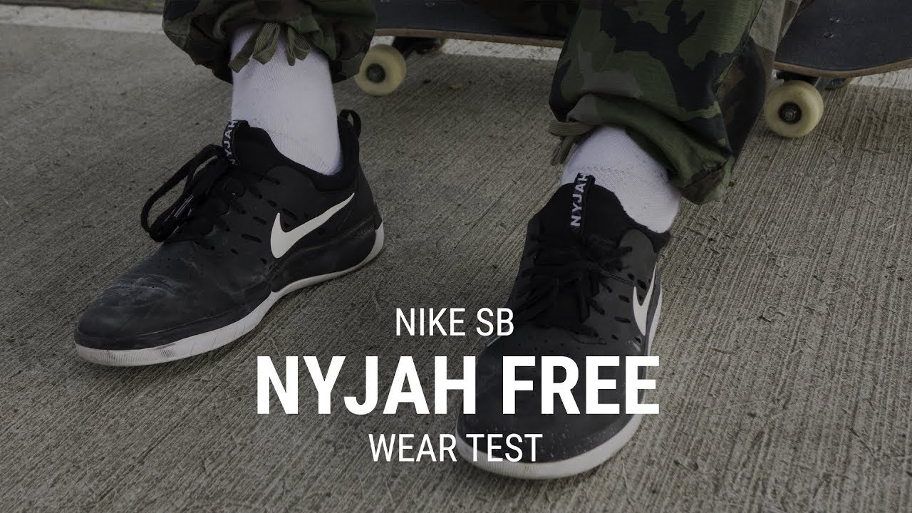 abd4eabad57a Nike SB Nyjah Free Skate Shoes Wear Test Review - Tactics.com - YouTube