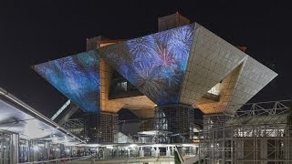 Tokyo Big Sight projection mapping event in 2014