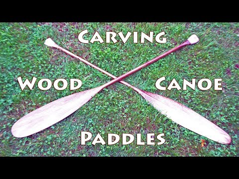 Carving Traditional Canoe Paddles