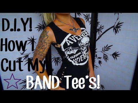 DIY: How I Cut My Band Tee's! | BreeAnn Barbie