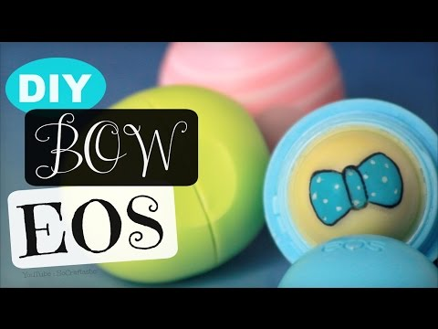 DIY Bow EOS Lip Balm - How To | SoCraftastic