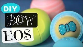 DIY Bow EOS Lip Balm || SoCraftastic
