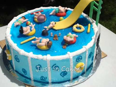 swimming pool cake youtube