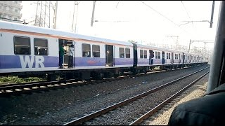 Amazing Race Between Two Mumbai Local Train - Double Parallel Action - 2015 India [HD VIDEO]