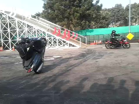 Bike and Scooty Stunt in 2016 Auto Expo in India
