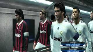 Pro Evolution Soccer 2010 Gameplay pc Real Madrid vs AC Milan