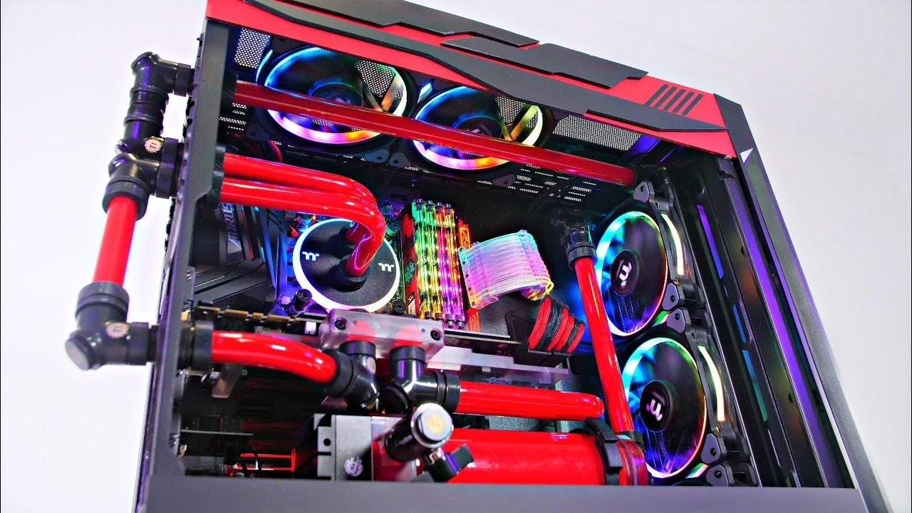 INSANE CUSTOM WATER COOLED PC BUILD - Lian Li Lancool Time ...