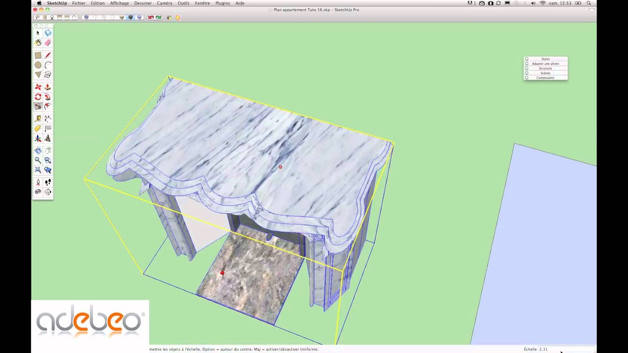 Tutoriel sketchup 17 outil mise l 39 echelle youtube for Outil miroir sketchup