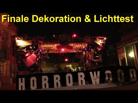 Halloween Horror Festival 2018 - Movie Park Germany – Finale Dekoration & Lichttest - HHF Halloween