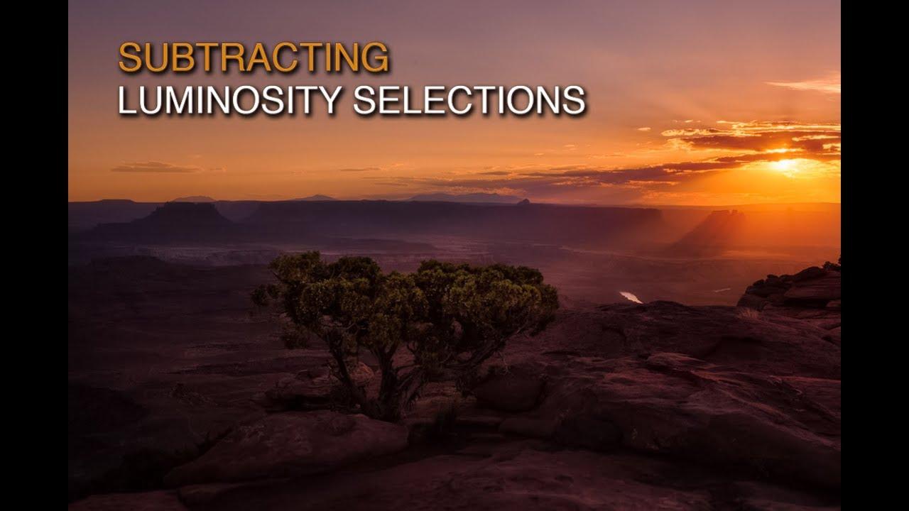 Subtract Luminosity Selections with Lumenzia