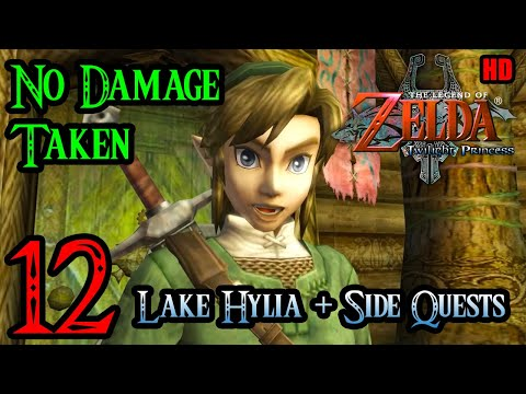 Zelda Twilight Princess Wii 100% Walkthrough 1080p HD Part 12 - Lake Hylia - Side Quests