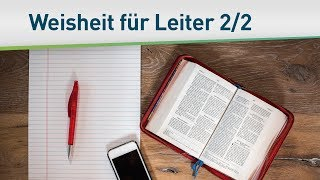 Göttliche Weisheit für Leiter 2/2 – Bayless Conley