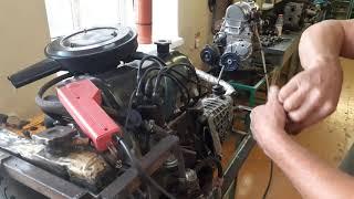 Корректировка угла опережения зажигания на двигателе ВАЗ-2106 с помощью стробоскопа. Зарубин С.Ю.