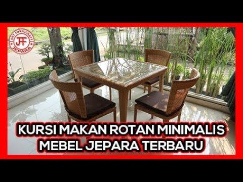 Set Kursi Makan Minimalis Rotan Sintetis Jepara Harga Murah Youtube