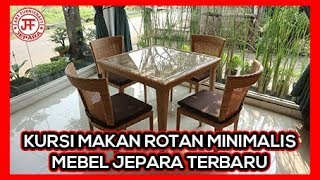 Set Kursi Makan Minimalis Rotan Sintetis Jepara Harga Murah
