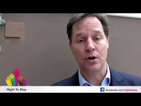 Nick Clegg about EU citizens living in the UK - German