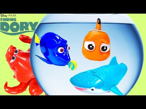 Disney Pixar Finding Dory Bath Toys! Blind Bag & Mashem - Destiny, Hank, Marlin!