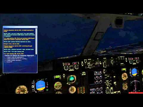 fsx washington dulles landing go around near miss hitting another plane