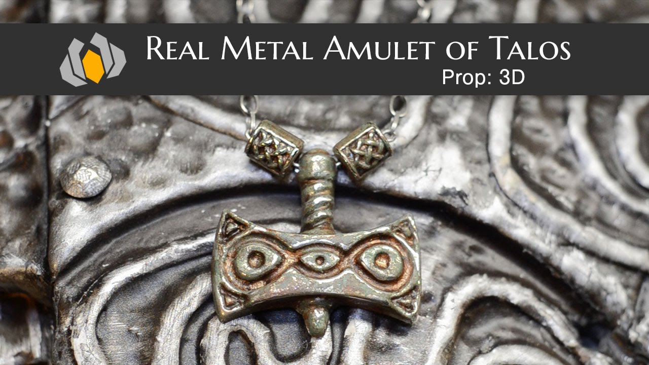 Amulet Of Talos prop: 3d - season 1, episode 5: real metal amulet of talos