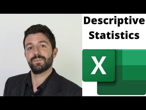 Descriptive Statistics in Excel 2016