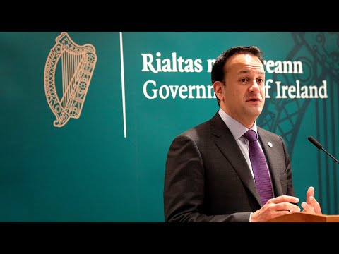 Prime Minister Leo Varadkar gives statement after referendum results