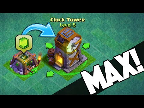 UPGRADING NEW CLOCK TOWER TO MAX IN CLASH OF CLANS + BUILDER'S BASE RAGE! Constant Fails