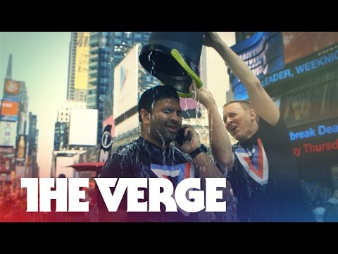 Nilay Patel from The Verge takes the ALS Ice Bucket Challenge