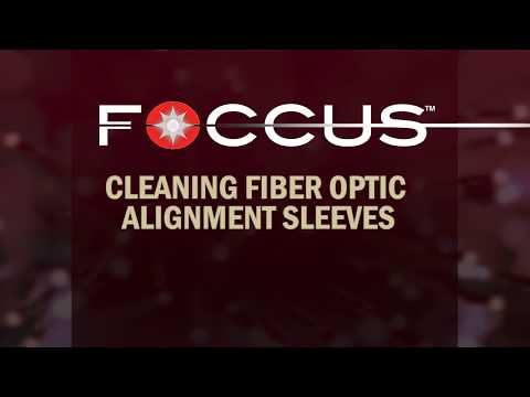 Fiber Optic Alignment Sleeve Cleaning with Swab & FiberWash Pen