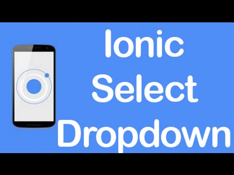 Ionic [CSS Components] - Select/Dropdown