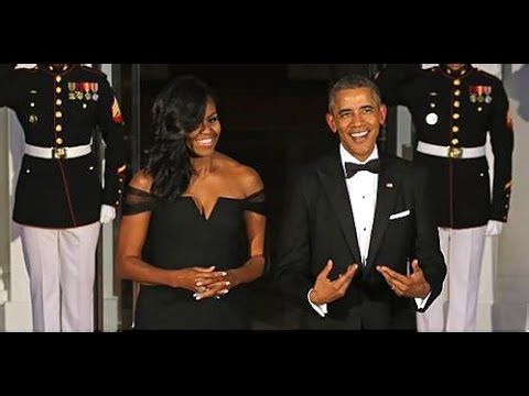 Michelle Obama Wears Off The Shoulder Vera Wang Dress State Dinner