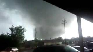 New Footage of Tuscaloosa tornado .Very close too scary thumbnail